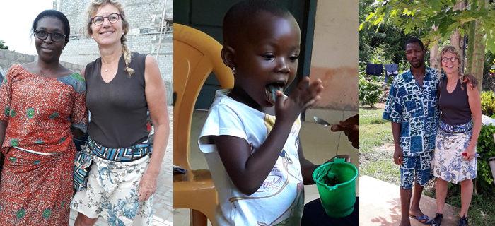 Anne Lacoste de retour du Togo