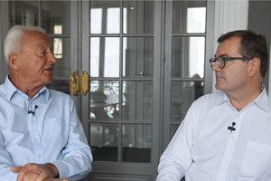 Marc le Man chef de projet Antenna France au Mali et Eric Nodé Langlois président MBV
