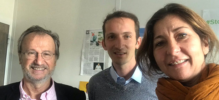 Stéphane de Yogi Bleu avec Nadège et Jean-Patrice d'Antenna France