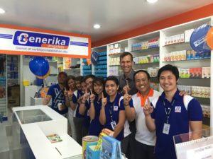 Julien Bello dans une pharmacie Generika