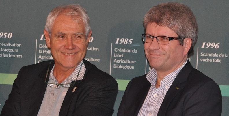 Michel Mustin et Philippe Bernard lors de la Rencontre sur l'Agriculture Durable à la Fondation Good Planet