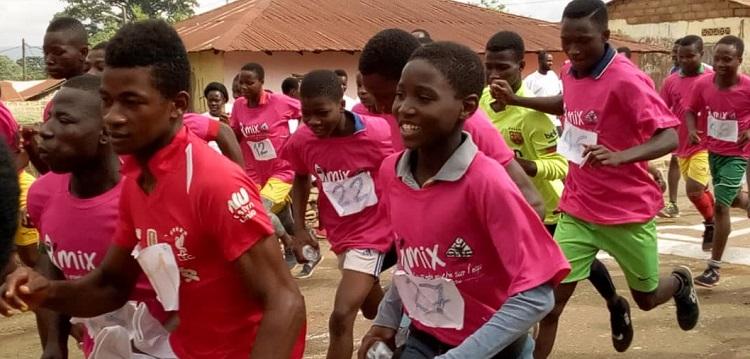 Courses de jeunes à Agou au Togo
