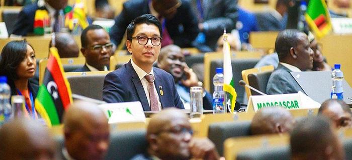 Andry Rajoelina au sommet de l'UA fevrier 2020