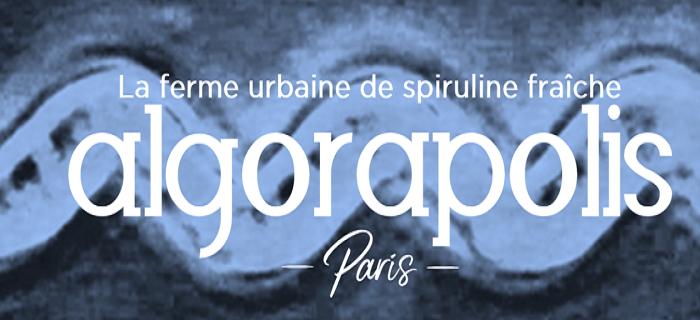logo d'Algorapolis ferme urbaine de spiruline fraiche